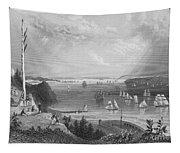 New York Bay, 1838 Tapestry