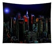 New York By Moonlight Tapestry