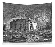 New York: Fire Of 1835 Tapestry