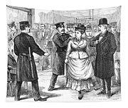 New York Police Raid, 1875 Tapestry
