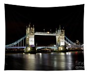 Night Image Of The River Thames And Tower Bridge Tapestry