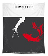 No073 My Rumble Fish Minimal Movie Poster Tapestry