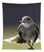 Northern Mockingbird - Lunch Is On The Way Tapestry