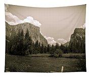 Nostalgic Yosemite Valley Tapestry