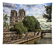 Notre Dame On The Seine Tapestry