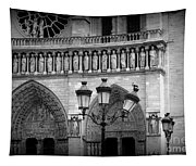 Notre Dame With Luminaires Tapestry