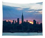 Ny Skyline Blue Dawn Tapestry