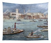 Nyc: The Battery, 1884 Tapestry