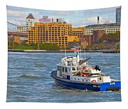 Nypd In The Water Tapestry