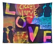 Occupy Love Open Heart Tapestry