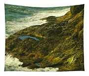 Ocean Pounded Rock  Tapestry