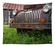 Old Abandoned Pickup Truck Tapestry