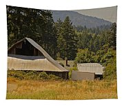 Old Barn On A Hot Summer Day In The Applegate Tapestry