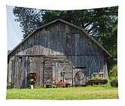 Old Barn South Of Brevard Tapestry