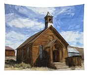 Old Church At Bodie Tapestry