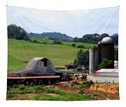 Old Dairy Barn Tapestry