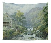 Old Disused Mill Dolgelly Tapestry