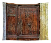 Old Door Study Provence France Tapestry