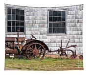 Old Farm Equipment Tapestry