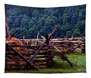 Old Farm Hay Rake Tapestry