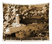 Old Fashion Thank You Card Tapestry