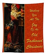 Old Fashioned Santa Christmas Card Tapestry