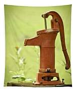 Old Fashioned Water Pump Tapestry
