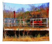 Old Ferry On The Cumberland Tapestry