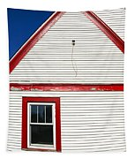 Old Gas Station Siding Tapestry