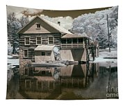 Old Grist Mill In Infrared Tapestry