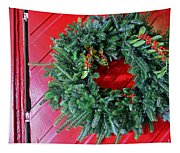 Old Mill Of Guilford Door Wreath Tapestry