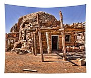 Old Navajo Stone House Tapestry