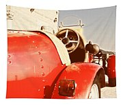 old Red Race Car Tapestry