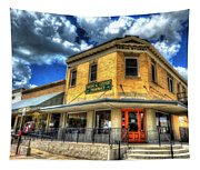 Old Town Bryan Drug Store Tapestry