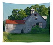 Old Vermont Barn Tapestry