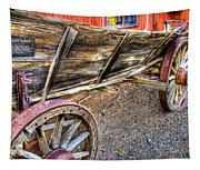 Old Wagon Tapestry