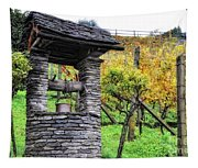 Old Water Well Tapestry