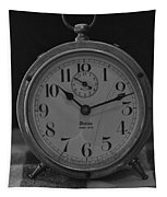 Old Westclock In Black And White Tapestry