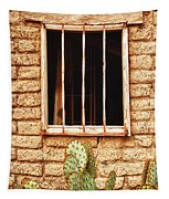 Old Western Jailhouse Window Tapestry