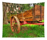 Old Wooden Cart Tapestry