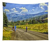 On A Country Road Tapestry