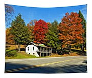 On A West Virginia Road Painted Tapestry