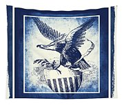 On Eagles Wings Blue Tapestry