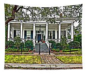 On Guard In New Orleans Painted Tapestry