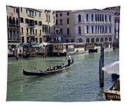 On The Canal In Venice Tapestry