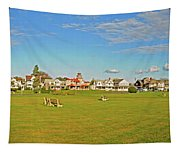 On The Green At Marthas Vineyard Tapestry