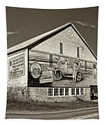 On The Lincoln Highway Sepia Tapestry