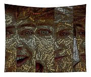 One Direction Faces Mosaic Tapestry