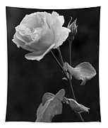 One Rose In Black And White Tapestry