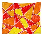 Orange Abstract Tapestry
